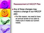 reassessment of haccp plan13