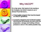 why haccp