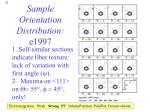 sample orientation distribution e1997