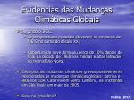 evid ncias das mudan as clim ticas globais12