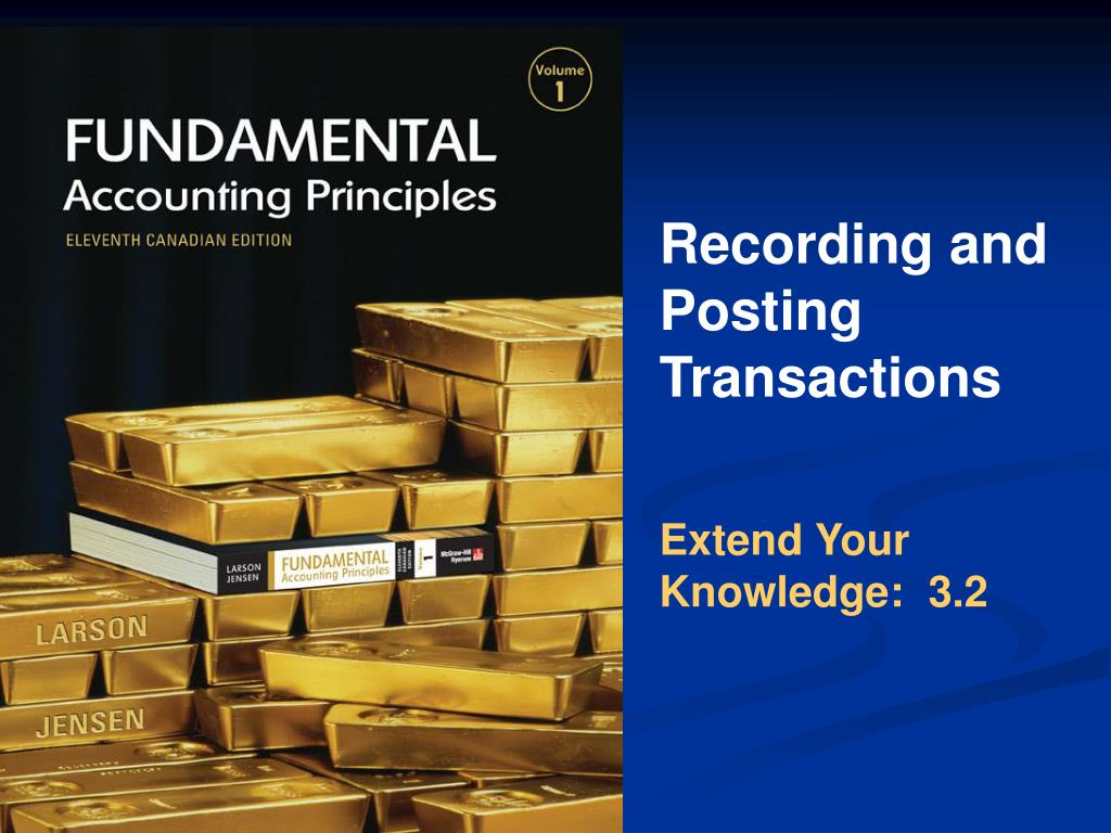 Recording and Posting Transactions