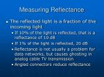 measuring reflectance