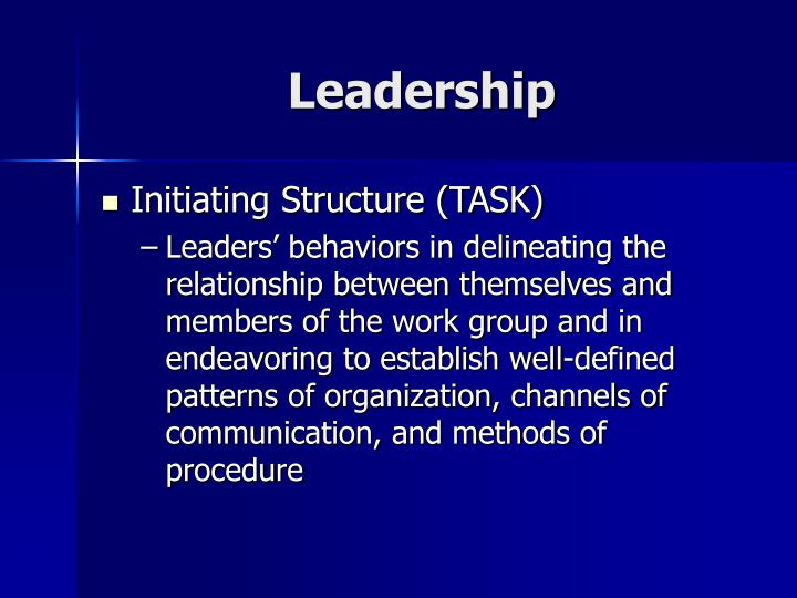 organizational leadership task 3 Leadership style depends on the leader's and organization's conception of what leadership is, and on the leader's choice of leadership methods depending how those fit together, a leader might adopt one of a variety styles, each reflected in the way the organization operates and the way its staff members relate to one another.