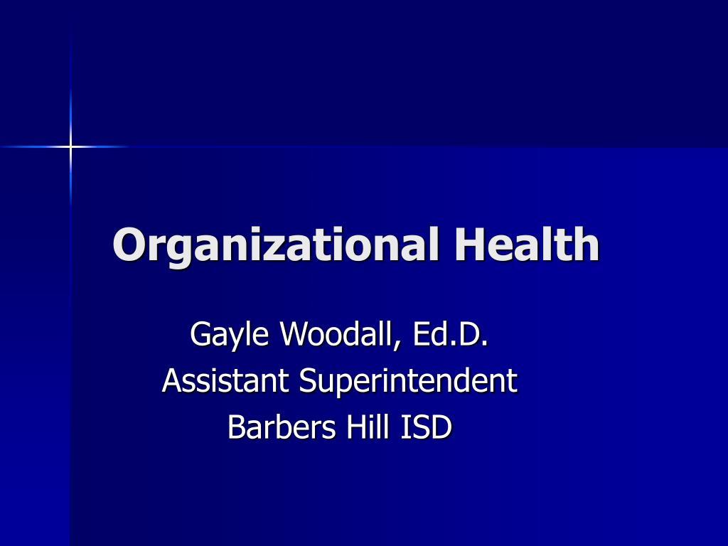 organizational health l.