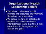 organizational health leadership beliefs13