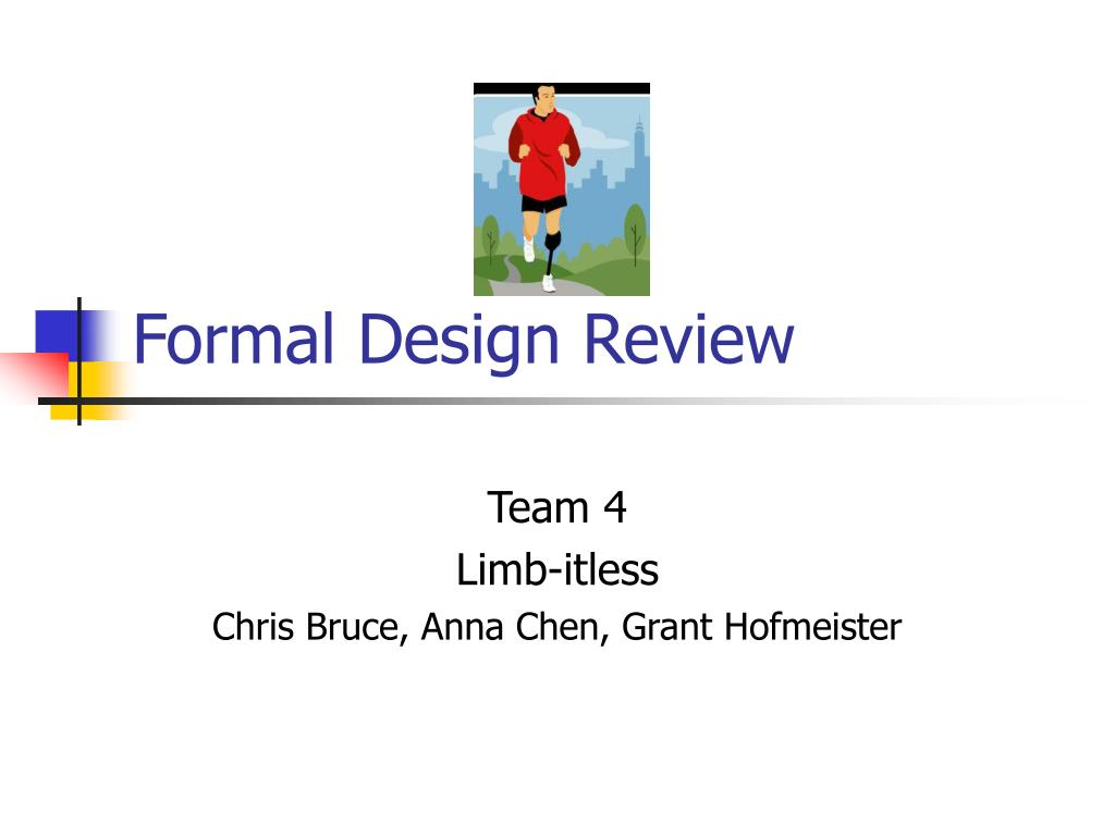 formal design review l.