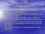 differences civil law territo 2004