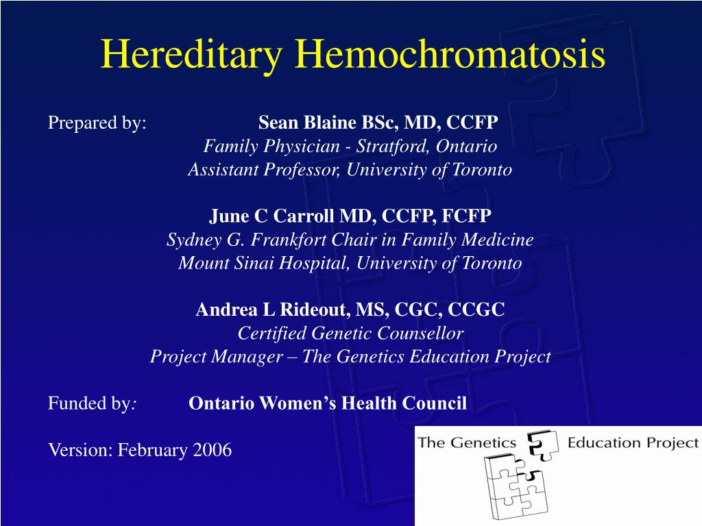 hereditary hemochromatosis l.