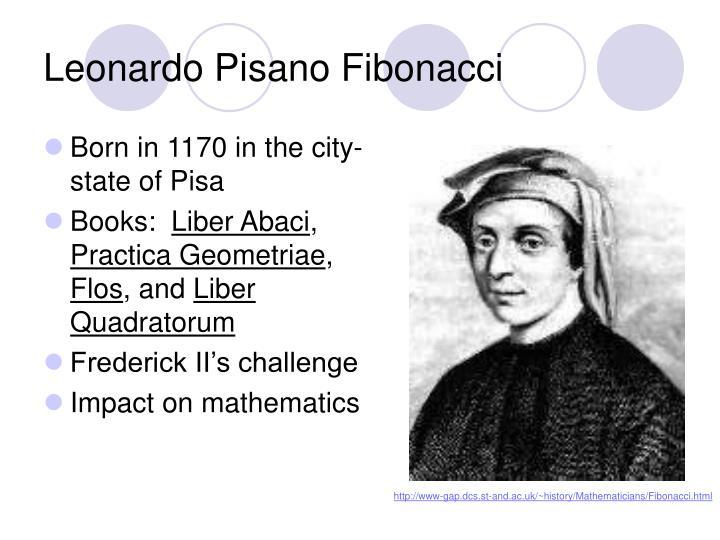 when and where was fibonacci born