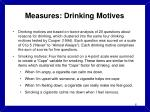 measures drinking motives