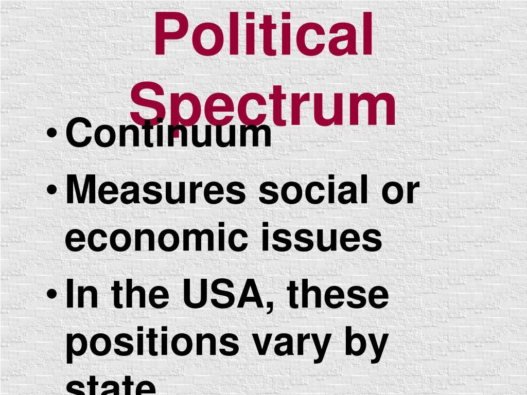 political spectrum l.