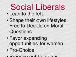 social liberals