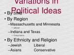 variations in political ideas