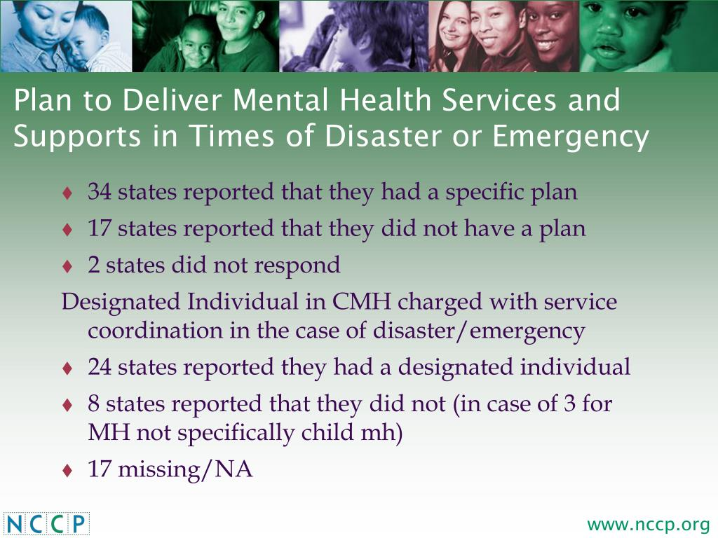 Plan to Deliver Mental Health Services and Supports in Times of Disaster or Emergency