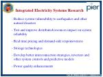 integrated electricity systems research