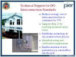 technical support for dg interconnection standards