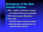 emergence of the new german cinema