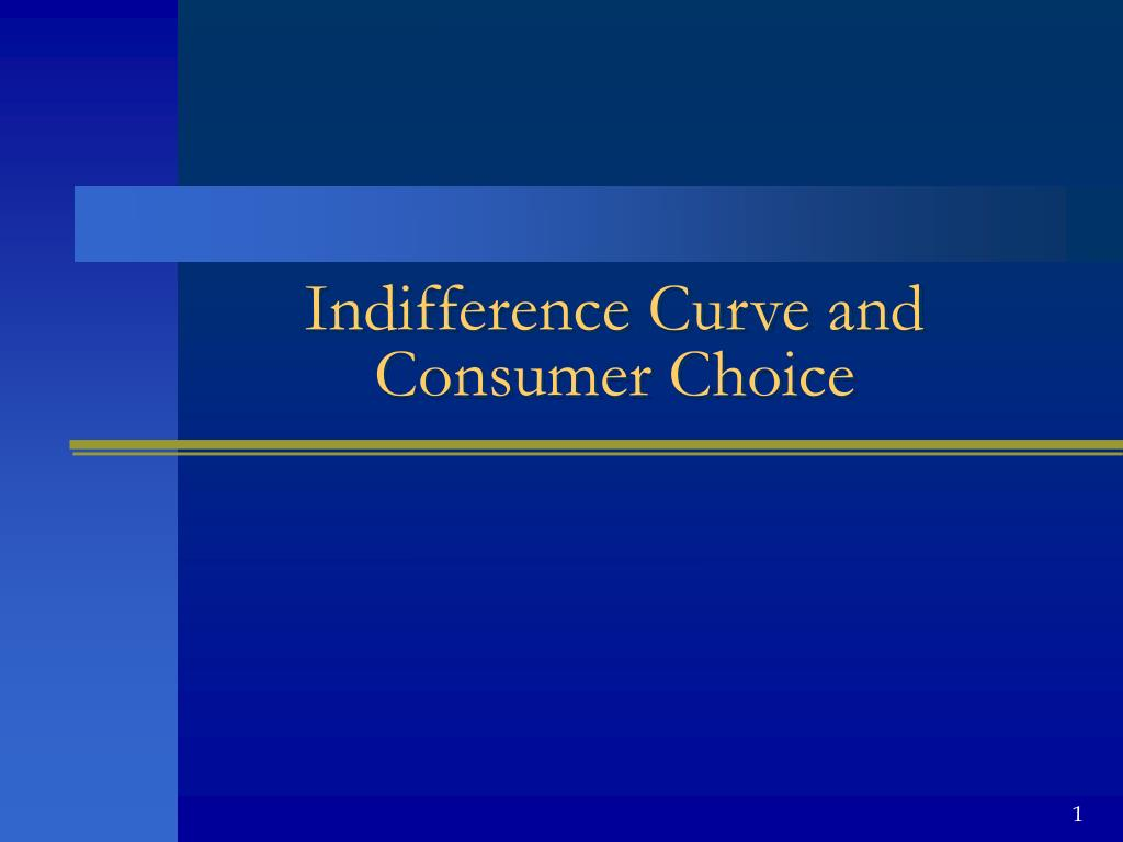 indifference curve and consumer choice l.