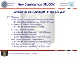 new construction milcon3