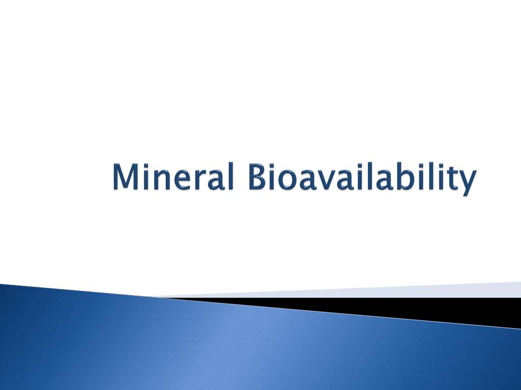 mineral bioavailability l.