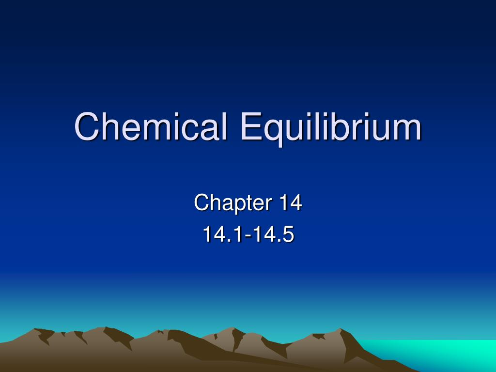 chemical equilibrium l.