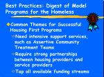 best practices digest of model programs for the homeless14