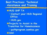 best practices technical assistance and training22