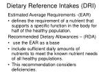 dietary reference intakes dri
