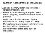 nutrition assessment of individuals