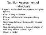 nutrition assessment of individuals20