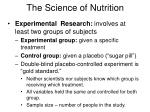 the science of nutrition31