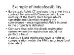 example of indeafeasibility