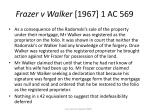 frazer v walker 1967 1 ac 56929