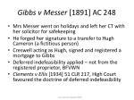 gibbs v messer 1891 ac 248