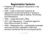 registration systems