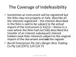the coverage of indefeasibility