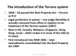 the introduction of the torrens system5