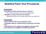 modified patch test procedures