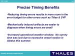 precise timing benefits