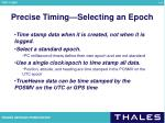 precise timing selecting an epoch