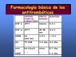 farmacolog a b sica de los antitromb ticos