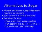 alternatives to sugar