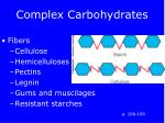 complex carbohydrates14