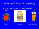 fiber and food processing
