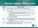 pension reform efforts in va
