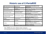 historic use of c pentabde
