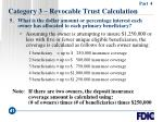 category 3 revocable trust calculation41