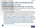 category 3 revocable trust requirements