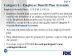 category 6 employee benefit plan accounts