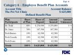 category 6 employee benefit plan accounts78